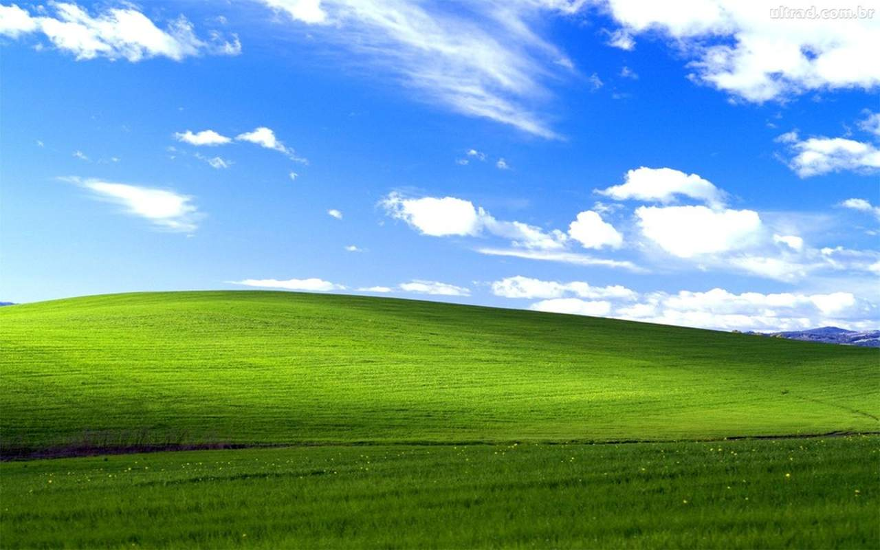 O papel de parede do windows xp é uma das fotografias famosas mais vistas do mundo